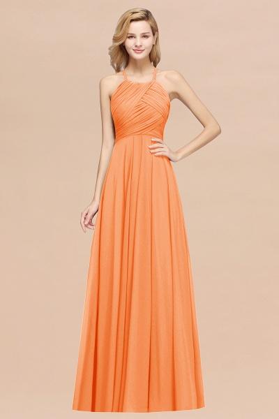 A-Line Chiffon Halter Ruffles Floor-Length Bridesmaid Dress_15