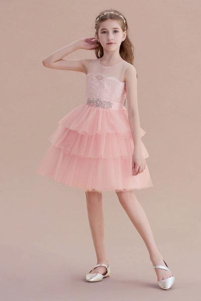 Graceful Layered Tulle Flower Girl Dress_5