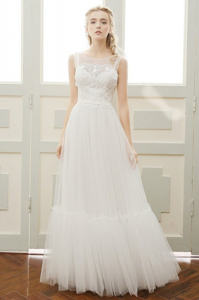 Affordable A-line Tulle Wedding Dress_1