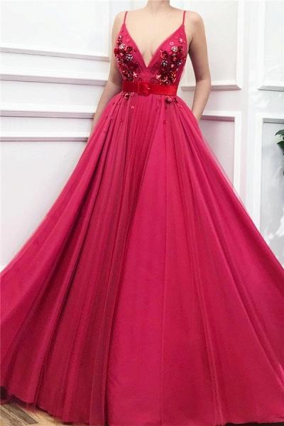 Wonderful Spaghetti Straps Tulle A-line Prom Dress_1
