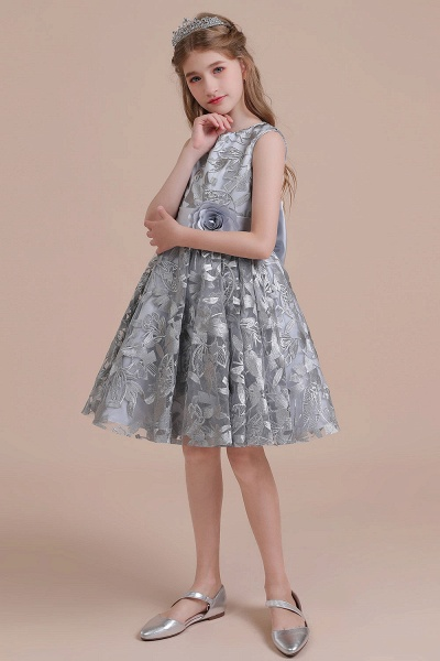 Chic Bow A-line Tulle Flower Girl Dress_5