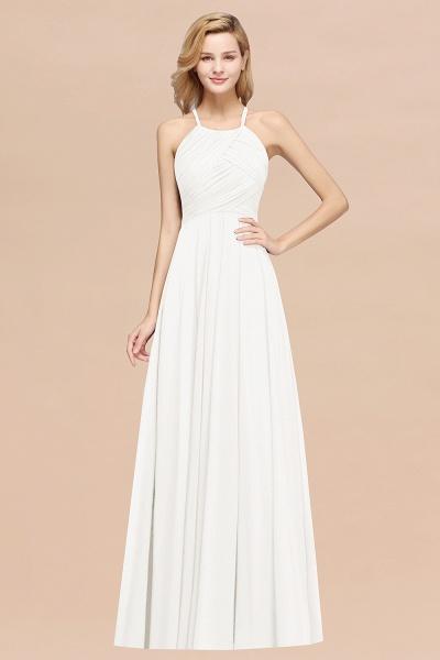 A-Line Chiffon Halter Ruffles Floor-Length Bridesmaid Dress_2