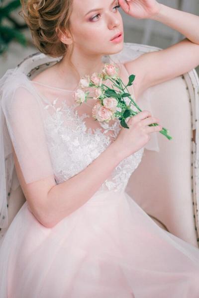 Amazing Tulle Chapel Train Wedding Dress_7