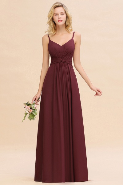 BM0762 Elegant A-line Ruffles Spaghetti Straps Bridesmaid Dress_51