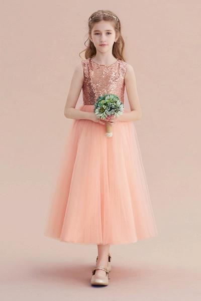 Graceful Sequins Tulle A-line Flower Girl Dress_6