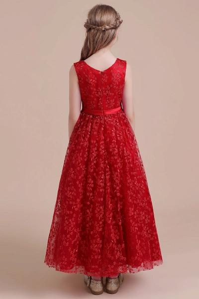 Elegant A-line Ankle Length Tulle Flower Girl Dress_3