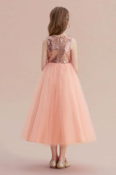 Graceful Sequins Tulle A-line Flower Girl Dress_3