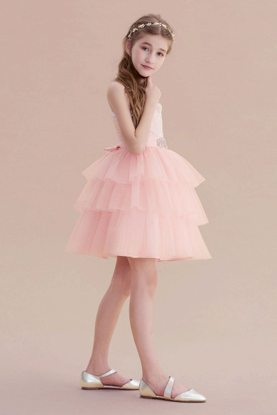 Graceful Layered Tulle Flower Girl Dress_4