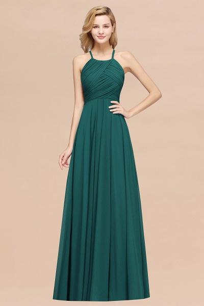 A-Line Chiffon Halter Ruffles Floor-Length Bridesmaid Dress_33