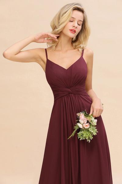 BM0762 Elegant A-line Ruffles Spaghetti Straps Bridesmaid Dress_56