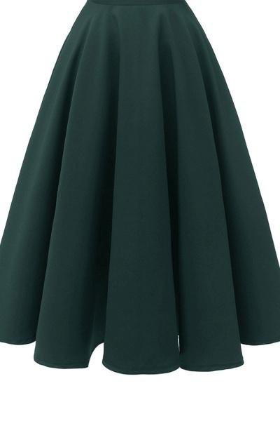 Sexy Cap Sleeves Princess Vintage Dresses with Straps | Womens Retro V-neck Emerald Cocktail Dress_13