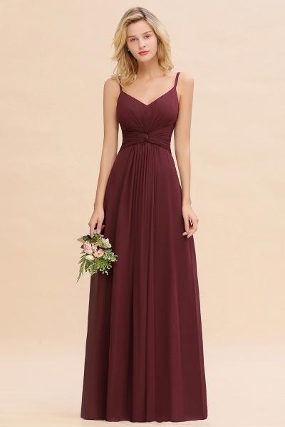 BM0762 Elegant A-line Ruffles Spaghetti Straps Bridesmaid Dress_10