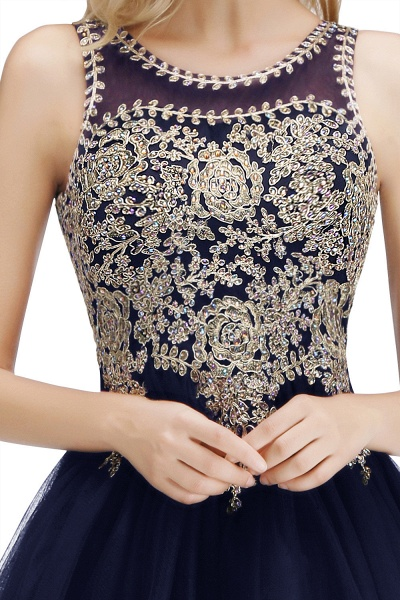 Fabulous Jewel Tulle A-line Evening Dress_25