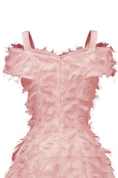 Artificial Fur Cap Sleeve Princess Short Homecoming Dress   A-line Burgundy Cocktail Dresses_11
