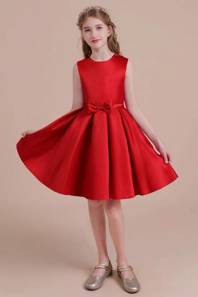 Latest A-line Satin Flower Girl Dress_6