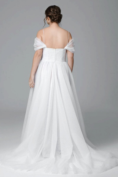 Plus Size Ruffle Tulle A-line Wedding Dress_3
