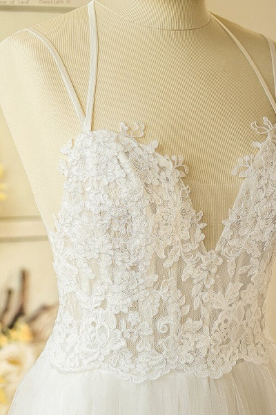 Elegant Appliques Tulle A-line Wedding Dress_6