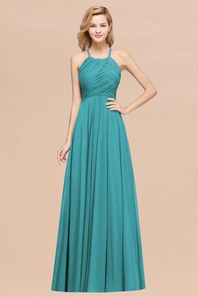 A-Line Chiffon Halter Ruffles Floor-Length Bridesmaid Dress_32