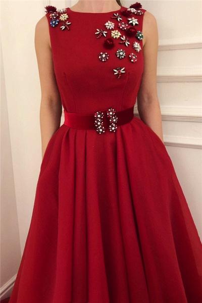 Elegant Jewel Satin A-line Prom Dress_2