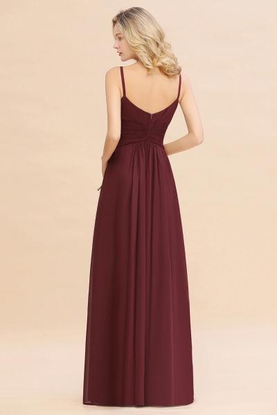 BM0762 Elegant A-line Ruffles Spaghetti Straps Bridesmaid Dress_52