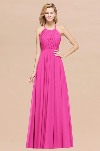 A-Line Chiffon Halter Ruffles Floor-Length Bridesmaid Dress_9