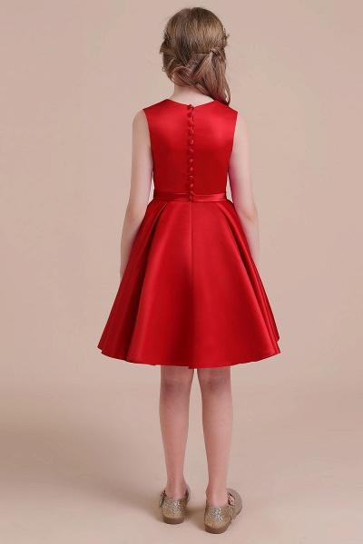 Latest A-line Satin Flower Girl Dress_3