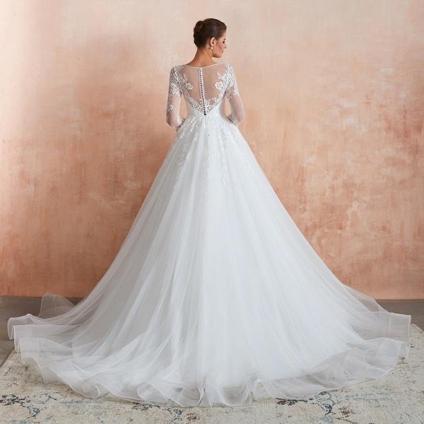 Wonderful Appliques Tulle A-line Wedding Dress_3