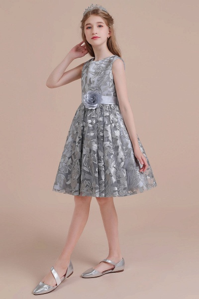 Chic Bow A-line Tulle Flower Girl Dress_4