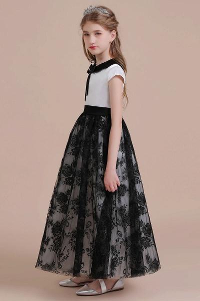 Cute Lace Cap Sleeve A-line Flower Girl Dress_5