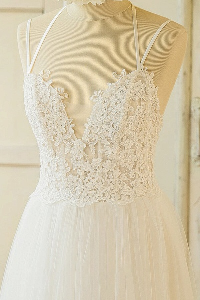 Elegant Appliques Tulle A-line Wedding Dress_4