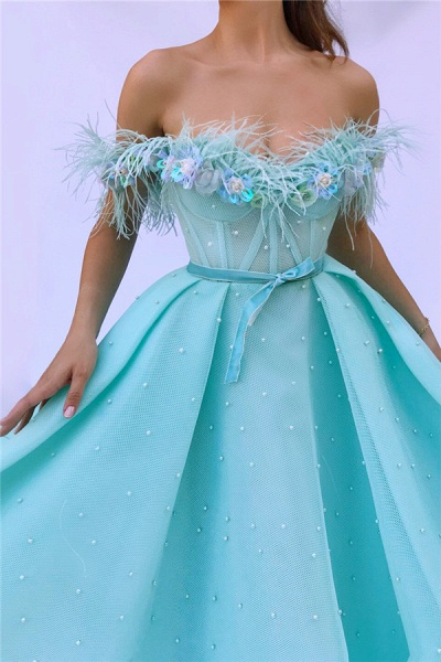 Fascinating Off-the-shoulder Tulle A-line Prom Dress_2