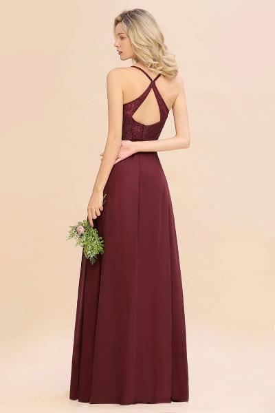 BM0753 Lace Spaghetti Straps A-Line Bridesmaid Dress_2