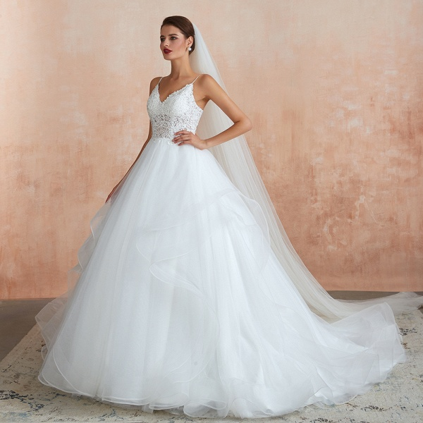 Glorious Appliques Tulle A-line Wedding Dress_7