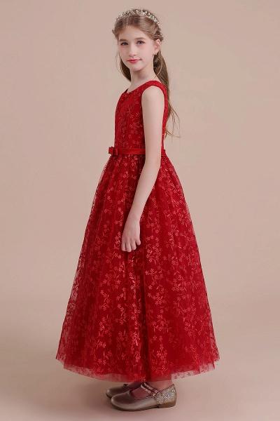 Elegant A-line Ankle Length Tulle Flower Girl Dress_4