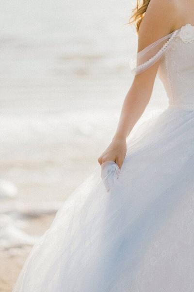 Elegant Court Train Lace Tulle Wedding Dress_7