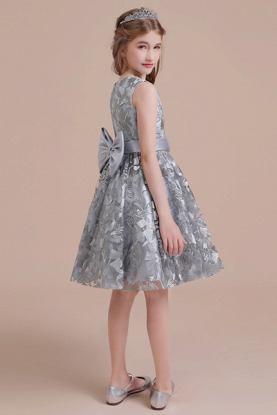 Chic Bow A-line Tulle Flower Girl Dress_9