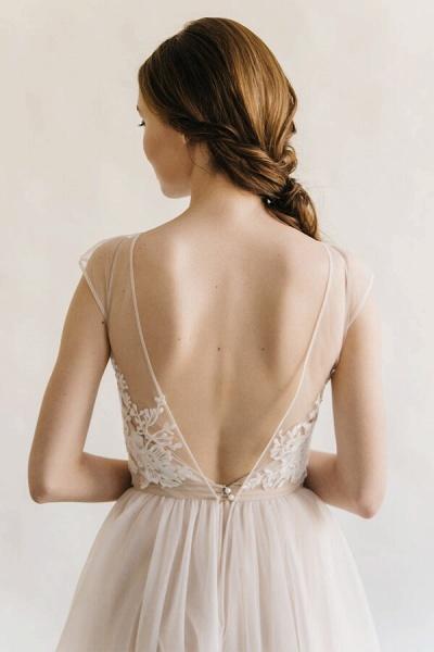 Elegant Appliques Tulle A-line Wedding Dress_7