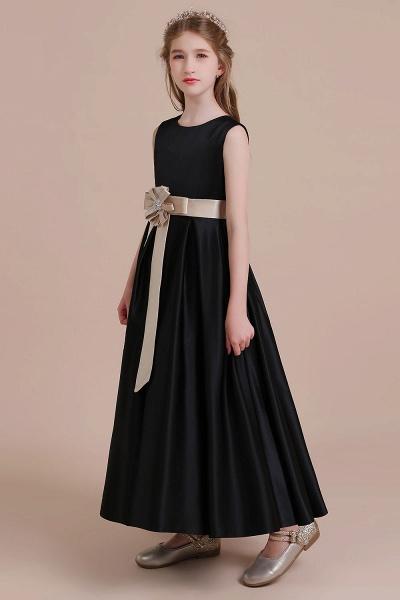 Elegant A-line Satin Flower Girl Dress_6