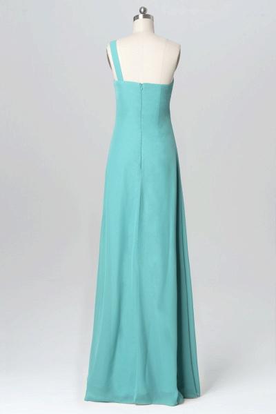 BM1137 One Shoulder Sweetheart Floral Chiffon Bridesmaid Dress_3