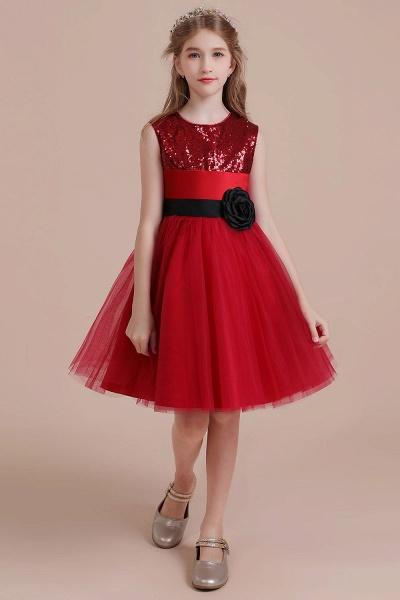 Graceful Sequins Tulle A-line Flower Girl Dress_1