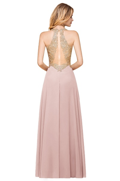 Awesome V-neck Chiffon Evening Dress_18
