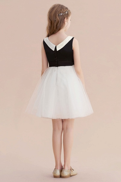 Affordable Bow Tulle A-line Flower Girl Dress_3