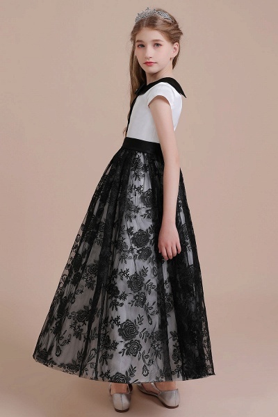 Cute Lace Cap Sleeve A-line Flower Girl Dress_4