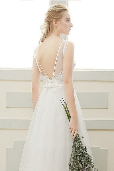 Affordable A-line Tulle Wedding Dress_5