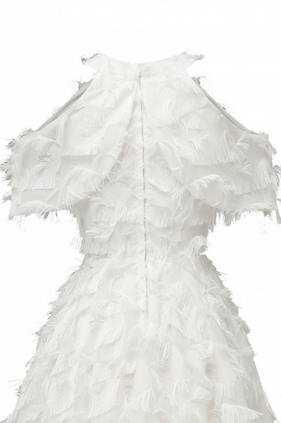 Elegant High neck Artifical Feather A-line Vintage Cocktail Dresses | Retro A-line Burgundy Homecoming Dress_20