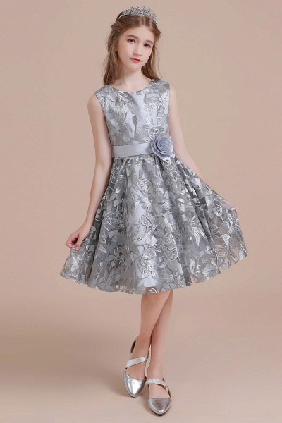 Chic Bow A-line Tulle Flower Girl Dress_8