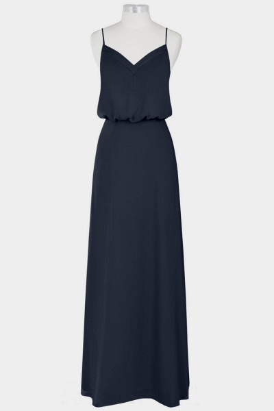 Spaghetti Strap A-line Chiffon Bridesmaid Dress