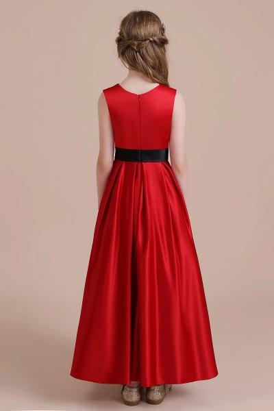 Elegant Satin A-line Flower Girl Dress_3
