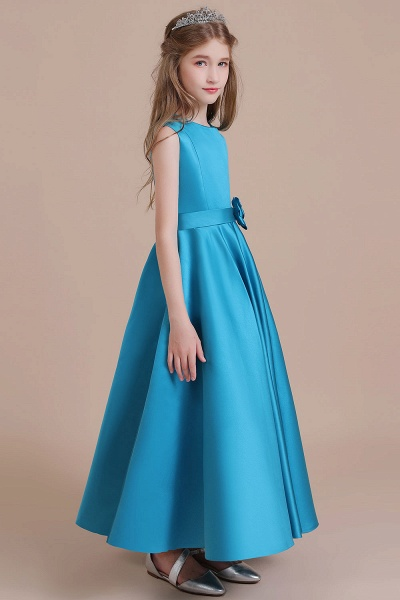 Awesome Satin A-line Flower Girl Dress_5
