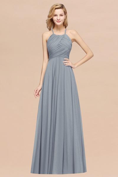 A-Line Chiffon Halter Ruffles Floor-Length Bridesmaid Dress_40